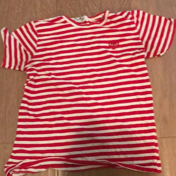 cdg shirt striped